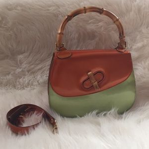Moschino vintage purse orange and green !
